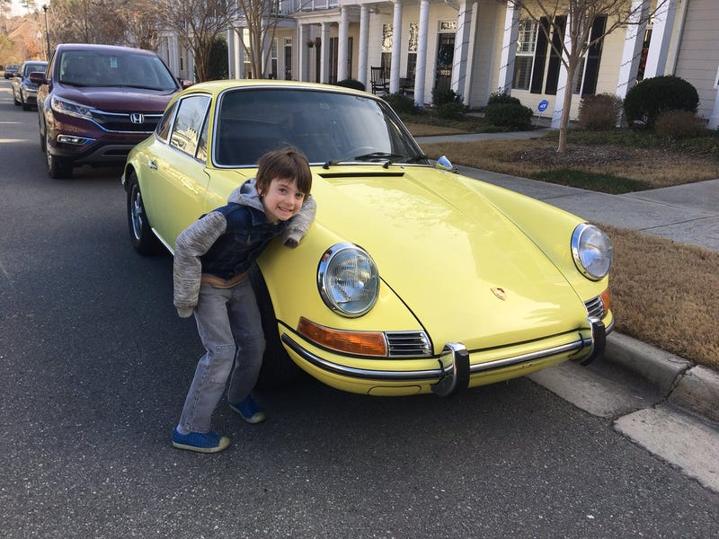 Otto, Jason Torchinsky's son, will be our representative of children who love automobiles. Also, mmmm yellow 911