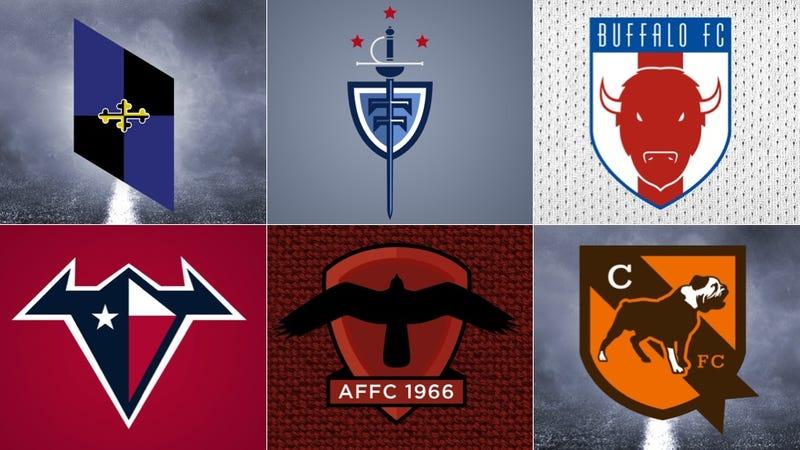 Illustration for article titled NFL Logos As European Soccer Badges, Part III