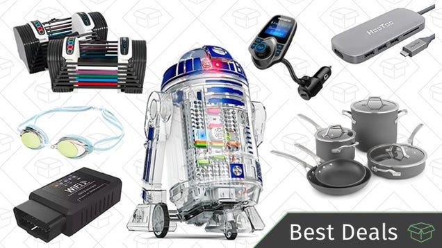 Sunday's Best Deals: Adjustable Dumbbells, Star Wars Droid Inventor Kit, USB-C Adapter, and More