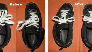 Illustration for article titled Revive Old Shoelaces By Cutting Them Down and Making Your Own Plastic Tip