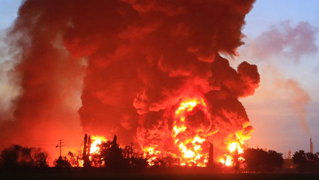 Indonesian Oil Refinery Ablaze After Massive Explosion