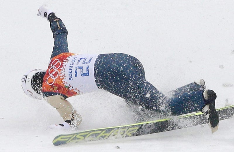 """Illustration for article titled Japanese Skier Breaks Arm In Crash; NBC Video Says He """"Lands Safely"""""""