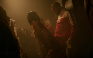 "Rihanna and Drake in the ""Work"" videoYouTube screenshot"