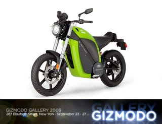 Illustration for article titled At Giz Gallery '09: Brammo Enertia Electric Motorcycles