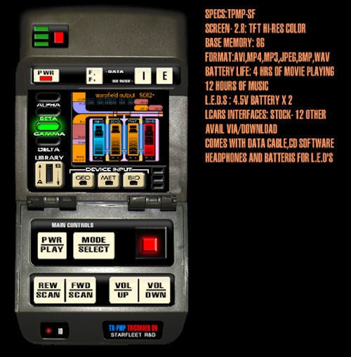Real Star Trek Tricorder Media Player Goes Where No PMP Has