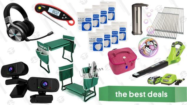 Sunday s Best Deals: Greenworks Outdoor Power Tools, Corsair Virtuoso Headset, 2-Pack 1080P Webcams, Kitchen Essentials, Garden Seat & Kneeler, and More