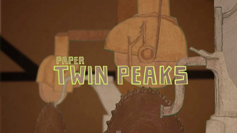 Illustration for article titled Twin Peaks' opening credits only get creepier when remade using paper