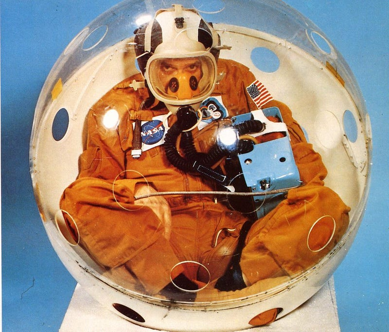 Illustration for article titled Getting Stuck Inside This Tiny Ball Was Part of Each NASA Astronaut's Training