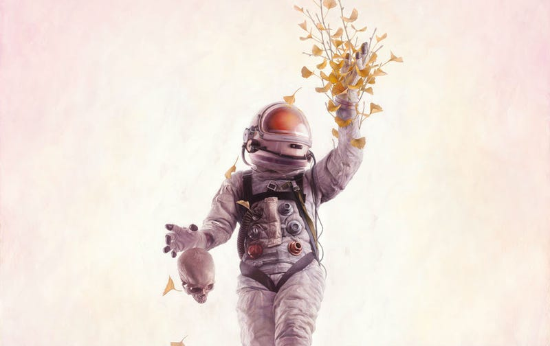 Illustration for article titled Science Bridges Life and Death in This Stunning Astronaut Art