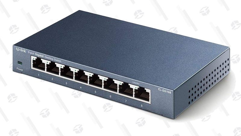 Eight-Port TP-Link Unmanaged Ethernet Switch   $17   Amazon   Clip coupon on page