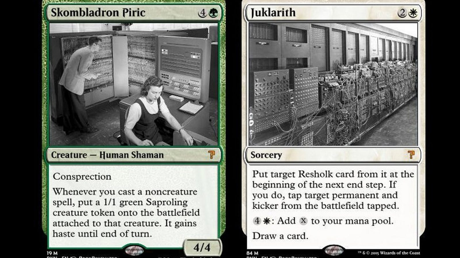 A Neural Network Designs Magic: the Gathering Cards, and It's Hilarious