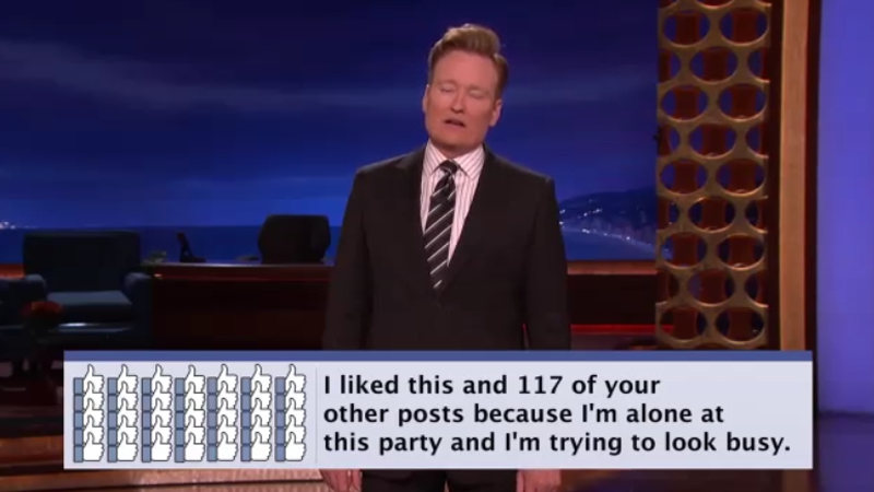 Illustration for article titled Conan Has Some New Facebook Button Ideas
