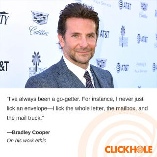Illustration for article titled Bradley Cooper Said What?!