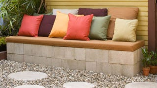 If Youu0027re Looking To Increase Your Backyard Entertaining Space On A Budget  Consider Making This Concrete Patio Bench. Youu0027ll Put Together The Sides  With ...