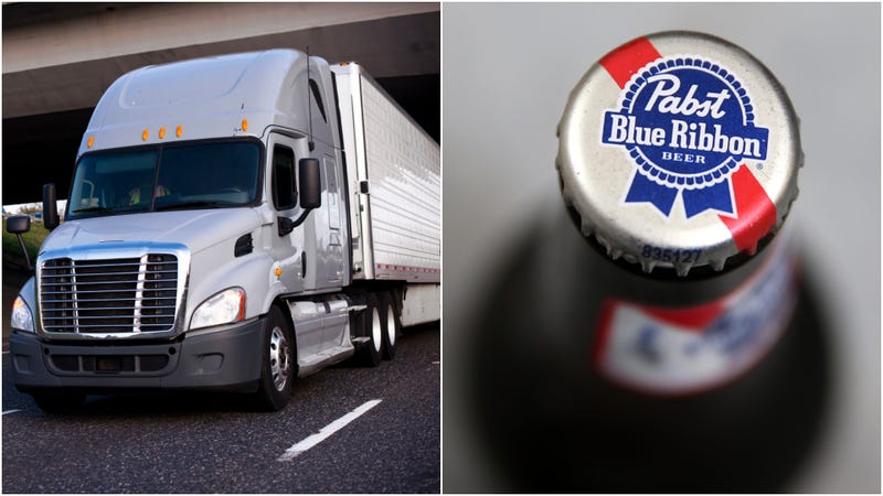 Illustration for article titled Truck full of PBR meets its match in low-clearance bridge