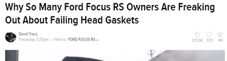 Illustration for article titled Because ... because their head gaskets are failing?