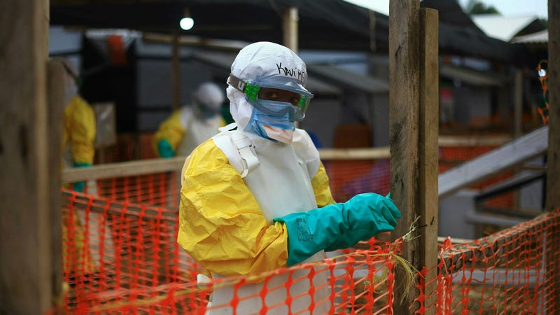 An Ebola health worker at a treatment center in Beni, Eastern Congo on April 16, 2019