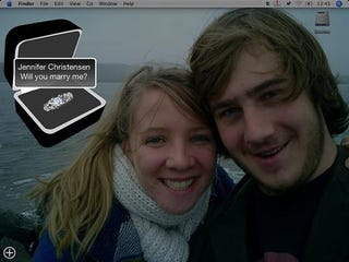 Illustration for article titled Fanboy Proposes to Girlfriend with Dashboard Widget