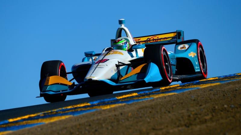 Patricio O'Ward driving in Sonoma in September.