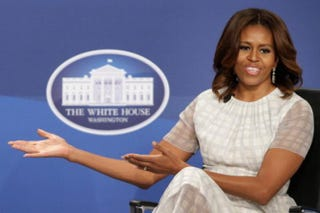 First lady Michelle Obama participates in the White House Summit on Working Families at the Omni Shoreham Hotel on June 23, 2014, in Washington, D.C.Chip Somodevilla/Getty Images