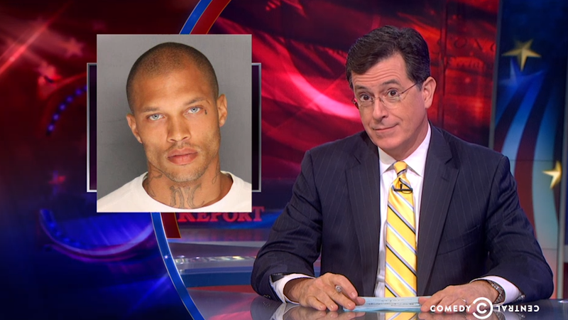 Illustration for article titled Colbert Thinks Hot Felon's Handsome Face Could Fix the Prison System