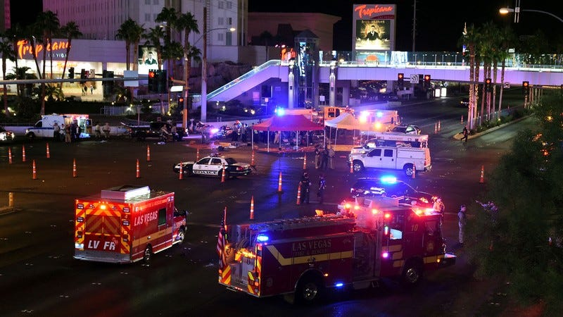 The scene at the Las Vegas shooting.