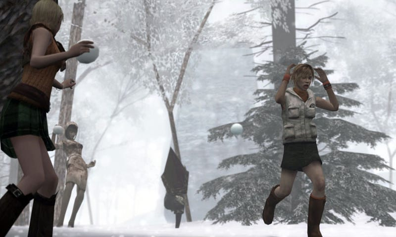Illustration for article titled It's Silent Hill vs Resident Evil Through...Snow Fights And...Breakdancing