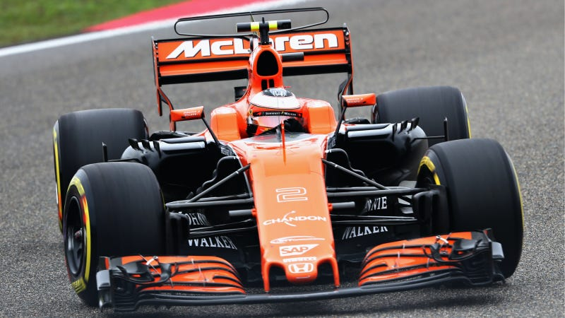 You know things are getting out of control when McLaren puts a TV antenna on the back of their car. Photo credit: Mark Thompson/Getty Images