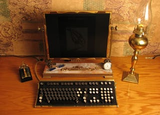 Illustration for article titled Modding an LCD Monitor the Steampunk Way