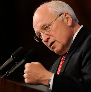 "Illustration for article titled Dick Cheney Sez: ""Don't Worry, Be Happy"""