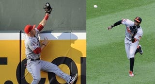 Illustration for article titled Did Mike Trout Lose The Gold Glove Because His Corner Outfielders Were Too Good?