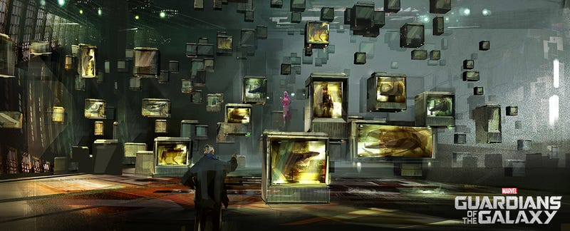 Illustration for article titled Alternate Versions Of The Collector's Lair From Guardians Of The Galaxy