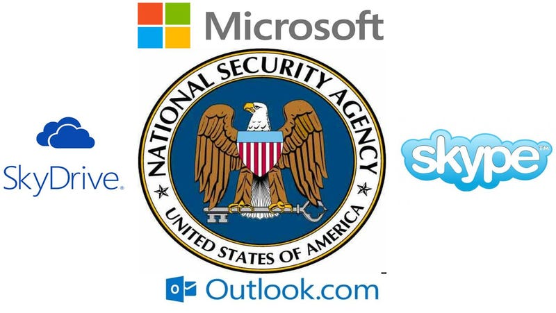 Microsoft ayudó a EE.UU. a espiar datos en Outlook, Skype y SkyDrive