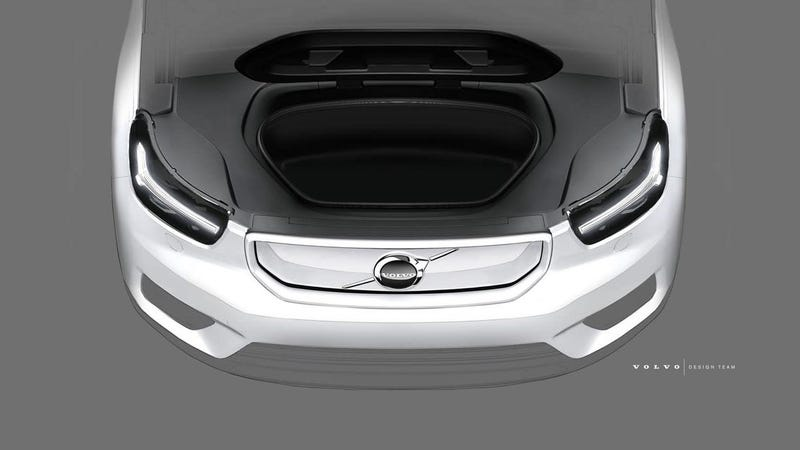 Illustration for article titled The Electric Volvo XC40 Gets A Frunk