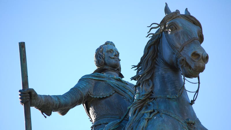 Monumento a Felipe IV en la Plaza de Oriente de Madrid