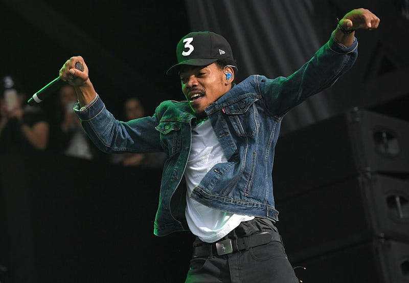Chance the Rapper performs onstage Oct. 2, 2016, in Queens, N.Y. ANGELA WEISS/AFP/Getty Images