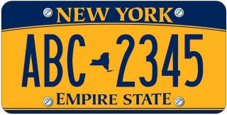 Illustration for article titled New 'Empire Gold' New York License Plates A Car Owner Shakedown