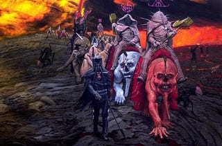 Illustration for article titled Wayne Barlowe doesn't bring weird creatures to you — he drags you to their world