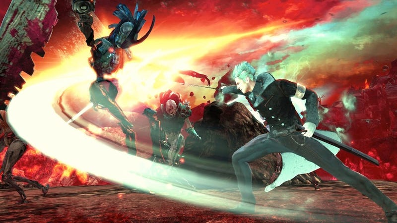 Illustration for article titled Vergil Slices It His Way In DmC's First Downloadable Add-On