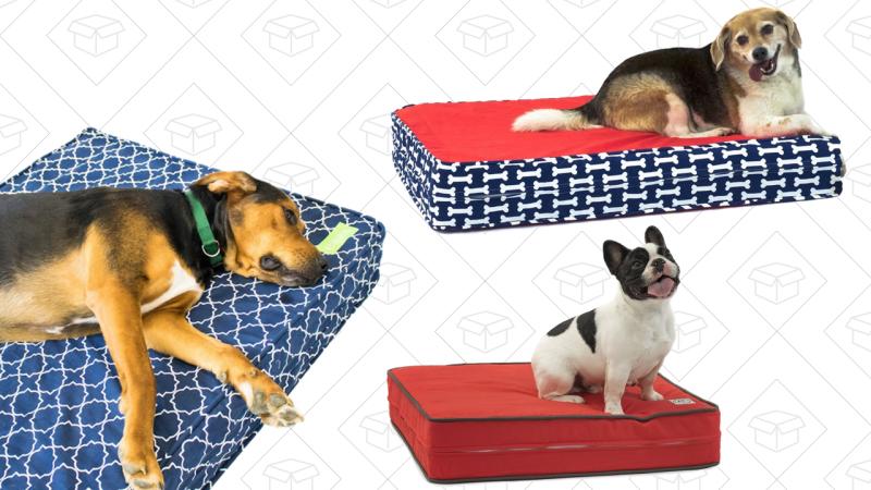 Cama ortopédica eLuxurySupply para perros, $65-$105