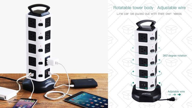 JackyLED 18-Outlet Vertical Power Strip | $25 | Amazon | Promo code LTC9MR54