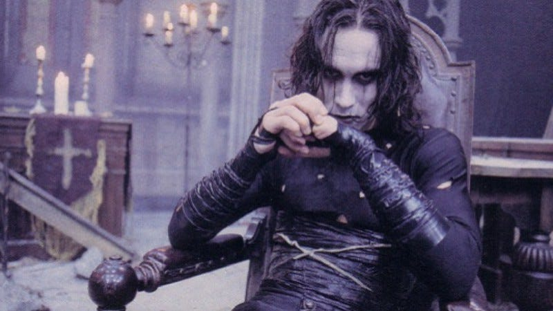 Illustration for article titled Brandon Lee's breakthrough, The Crow, was also his morbid swan song