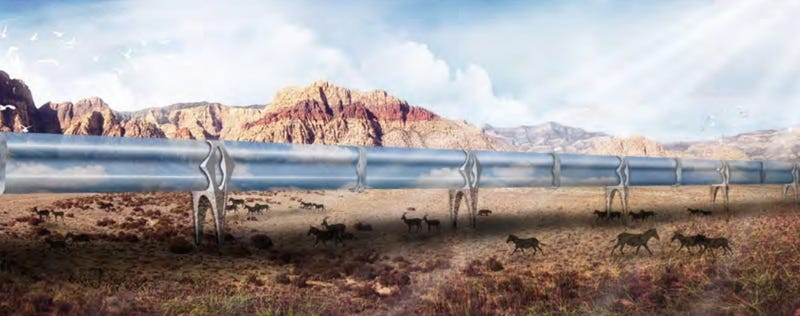 Illustration for article titled A Glimpse at What the Hyperloop Might Actually Be Like