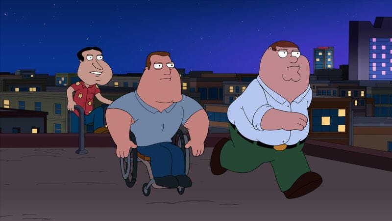 "Illustration for article titled Family Guy: ""Joe's Revenge"""