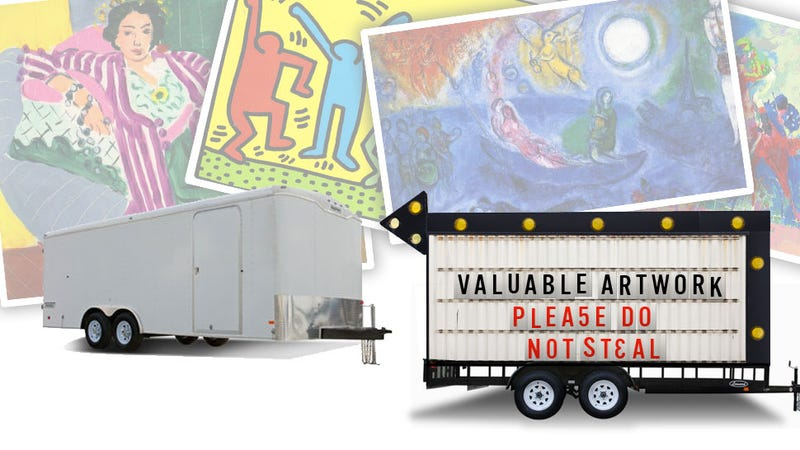 Illustration for article titled Shocking: If You Leave Valuable Art In A Trailer On An LA Street, It Might Get Stolen