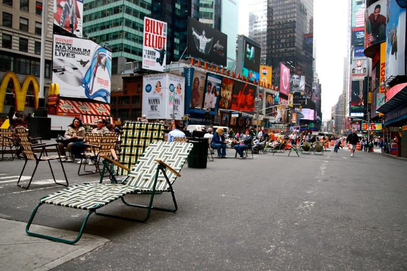 Illustration for article titled Times Square Traffic Shutdown Preview Of World Without Cars?