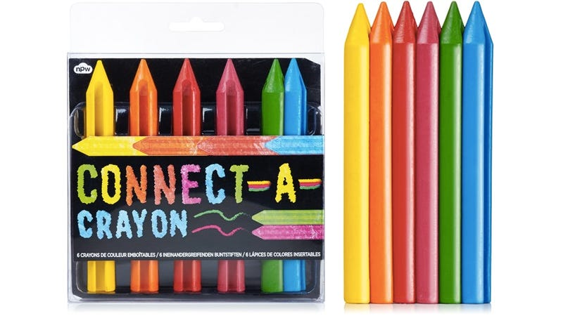 Illustration for article titled Connectable Crayons Make It Easy To Draw a Perfect Rainbow