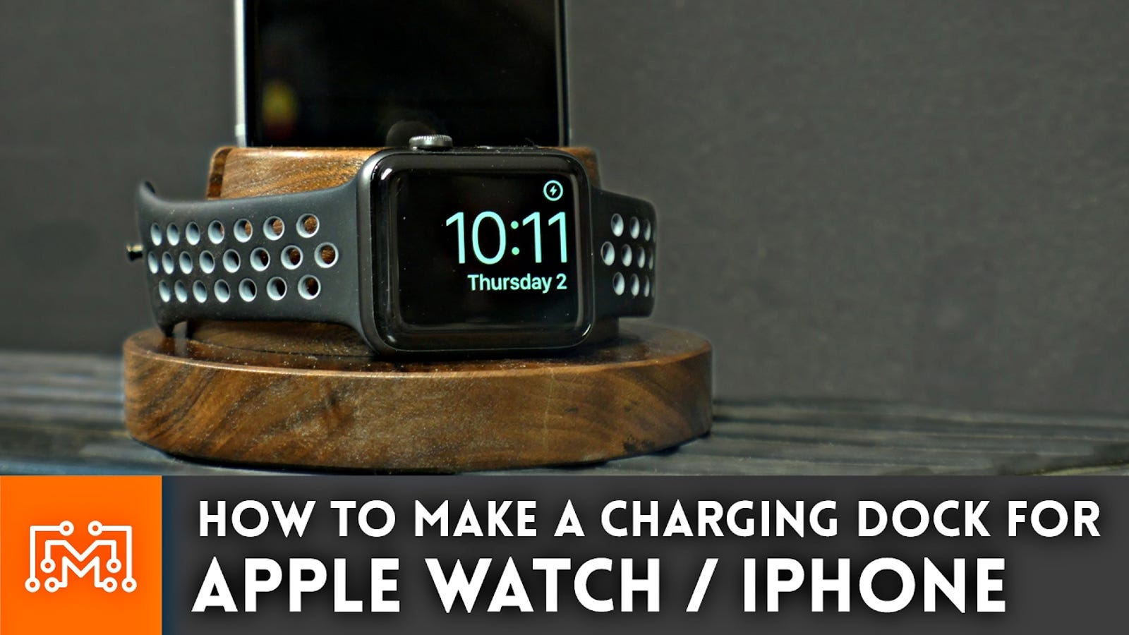 Make Your Own iPhone and Apple Watch Charging Dock Out of Block of Wood
