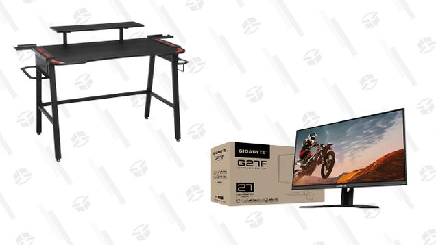 Upgrade Your PC Gaming Setup Today With a New Respawn Desk ($50 Off) And Gigabyte G27F Monitor ($40 Off)