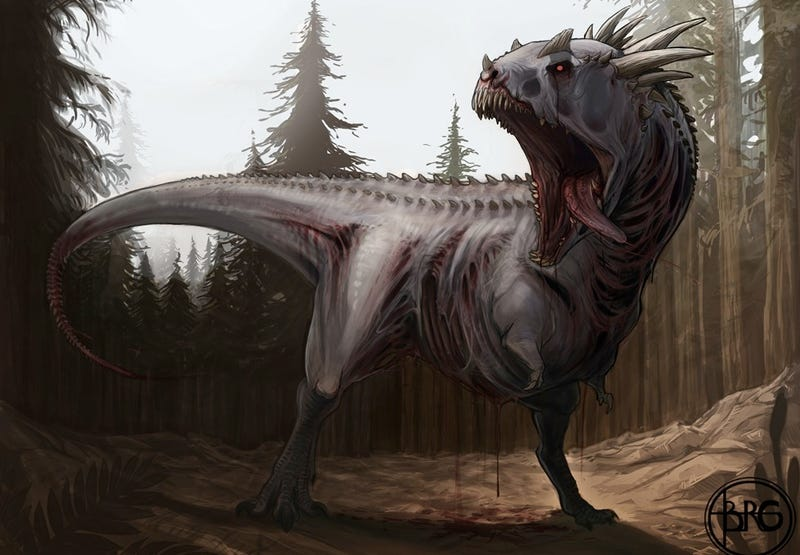 Illustration for article titled Concept Art Writing Prompt: Zombie Dinosaur!
